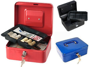 New Steel Petty Cash Boxes Tray Money Holder Security Safe Hide Markets Shop