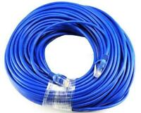 Blue Gold Plated 50FT CAT5 CAT5e RJ45 Patch ETHERNET Network Cable 50 FT for PC,