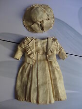 Rare Magnifique  Antique Original French Silk  Doll Dress Jumeau Steiner