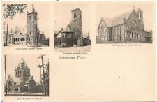 Four Churches in Uniontown PA Multiview Postcard