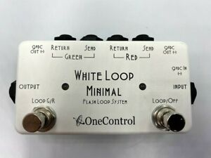 ONE CONTROL White Loop Minimal 2 Channel Loop Flash Switcher Effects Pedal