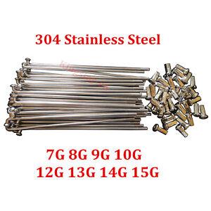 Custom Length 7G-15G Electric Bicycle Spokes & Nipples 304 Stainless Steel