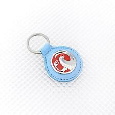 BLUE Leather Richbrook Vauxhall Logo Leather Key Ring / Fob 4400.44