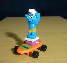 Smurfs Hardees Hands Up Smurf Orange Skateboard Vintage Figure Toy Peyo Applause