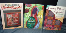 3 NEW QUILTING BOOKS: Prairie Sampler - Garden Theme - Curve Patch  QUILT MAKING