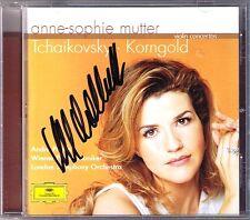 Anne-Sophie MUTTER Signiert KORNGOLD TCHAIKOVSKY Violin Concerto ANDRE PREVIN CD