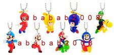 Takara Tomy Super Mario Bros wii keychain figure gashapon (full set 8 pcs)