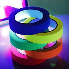 6 Rolls Blacklight UV Tape Fluorescent Cloth Glow in The Dark Neon Gaffer Tape