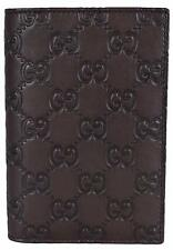 NEW Gucci Men's 154694 Brown Leather GG Guccissima Passport Holder Bifold Wallet