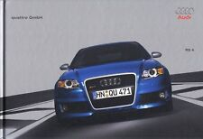 AUDI RS4 B6 V8 Sportscar Limousine Hardcover Buch Prospekt Brochure 2005 94
