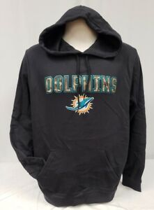 Brand New Majestic Men's Miami Dolphins Pullover Hooded sweatshirt