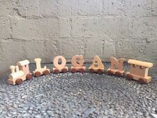 Wooden Name Train Toy Personalised Boy Girl Unisex Newborn Baby Gift Keepsake