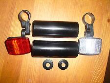 Fahrrad-BMX-Pegs,bis zu 10mm Achse + Reflektorenset(Vorne/Hinten),NEU