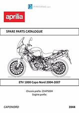 Aprilia parts manual book 2004, 2005, 2006, & 2007 Etv 1000 Capo Nord