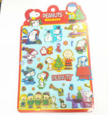 SNOOPY & FREINDS PEANUTS CHRISTMAS THEME COLOR STICKERS 171272