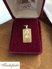 14K YELLOW GOLD LOS ANGELES 1984 OLYMPICS GRECO ROMAN WRESTLING PENDANT