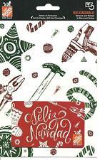 Home Depot Feliz Navidad Gift Card No $ Value Collectible Christmas Spanish