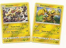 RARE ELECTIVIRE+ELECTABUZZ  - 2 Pokemon EVO Cards-BURNING SHADOWS-REV HOLO-MINT