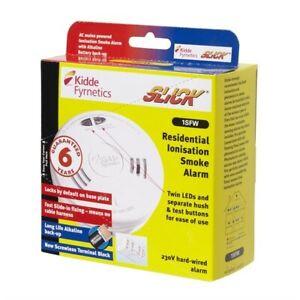 Kidde 1SFW Smoke Alarm Detector 230v Mains C/W Battery Back Base
