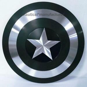 "Black Marvel Legends Premium Captain America Full Size 22"" Inch Shield Replica"