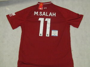 MOHAMED MO SALAH  Hand Signed 2018/19 Jersey +  PSA BAS  *BUY GENUINE* LIVERPOOL