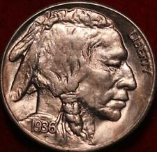 Uncirculated 1936-S San Francisco Mint Buffalo Nickel