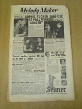 MELODY MAKER 1952 MAY 3 SOPHIE TUCKER EMPRESS HALL JOHNNY DANKWORTH REX MORRIS