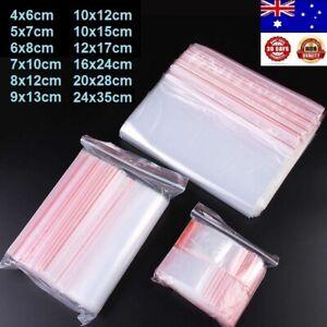 100pcs-2000pcs AU Small Zip Lock Plastic Bags Reclosable Resealable Zipper HQ