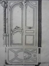 PORCHE PORTE GRAVURE XVIIIéme ORNEMENT ARCHITECTURE DECORATION