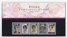 GB 1998 Princess Diana Welsh Presentation Pack VGC. Stamps. Free postage