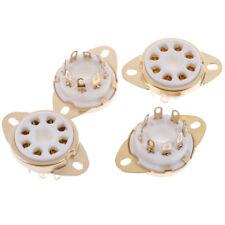 4Pcs 8 pin ceramic socket tube top vacuum octal value for KT88 6550 EL34 6 ST