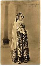 Piana dei Greci Palermo Sicily Woman traditional dress PC Heliogravure 1908 S250
