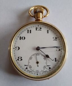 Open Faced Pocket Watch 15 Jewel Swiss Made