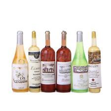 6pcs 1:12 Wine Whisky Bottles Doll House Miniature Pub Bar Kitchen Accessory