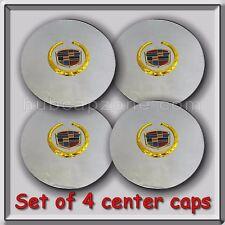 Set 4 Chrome Gold 1999-2000 Cadillac Eldorado Wheel Center Caps Replica Hubcaps