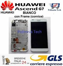 DISPLAY LCD+TOUCH con FRAME per HUAWEI G7 BIANCO - GLS 24/48