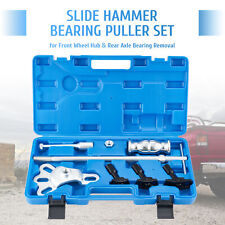 Omt 8pc Rear Axle Bearing Seal Removal Tool Set Slide Hammer Kit With Adapters