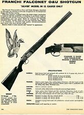 1976 Print Ad of Franchi Falconet O&U Silver Model Shotgun