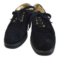 CHANEL CC Logos Sneakers String Shoes Black Suede France #40 GS01309f