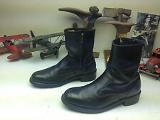 STEEL TOE UNION MADE IN USA VINTAGE BLACK ZIP UP BEATLE BOSS BOOTS SIZE 9.5 D