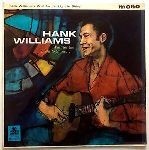 HANK WILLIAMS - WAIT FOR THE LIGHT TO SHINE - 1960 UK RELEASE - VINYL, LP, ALBUM