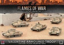 Flames of War Entièrement neuf dans sa boîte Valentine armoured troop BBX43