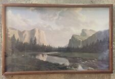 "Dino Massaroni ""Sunrise Sierra"" Yosemite National Park painting - 1989 art"