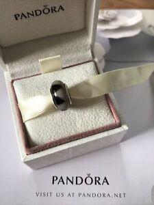 A Genuine Black Grey Triangles Murano Glass Pandora Bracelet Charm  Retired