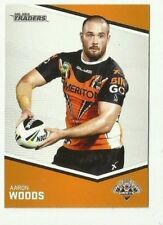 2014 NRL Traders WESTS TIGERS AARON WOODS COMMON # 176 CARD FREE POST