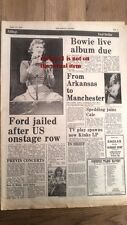 DAVID BOWIE live album news 1974 UK ARTICLE / clipping