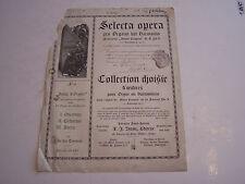 VIEUX PAPIERS , COLLECTION CHOISIE D ' OEUVRES POUR ORGUE ET HARMONIUM . 1903 .