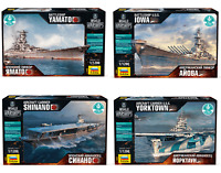 ZVEZDA World of Warships WWII Plastic Model Kits- Aircraft Carriers, Naval Ships