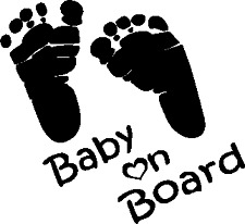 BABY ON BOARD popular Car Window Bumper Vinyl DECAL sticker Winter Beater jdm