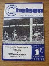 31/08/1968 Chelsea v Tottenham Hotspur  . Item In very good condition unless pre
